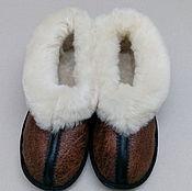 Обувь ручной работы. Ярмарка Мастеров - ручная работа Тапочки из овчины на микропоре. Handmade.