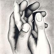 Картины и панно ручной работы. Ярмарка Мастеров - ручная работа Графика Двое. Handmade.