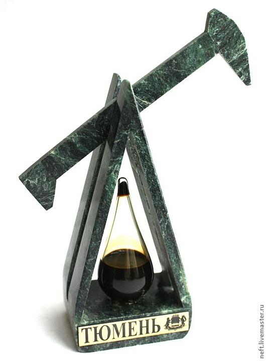 Персональные подарки ручной работы. Ярмарка Мастеров - ручная работа. Купить Нефтяная качалка (подвижная). Handmade. Зеленый, престиж, нефть
