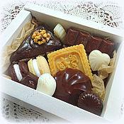 Косметика ручной работы. Ярмарка Мастеров - ручная работа Набор Шоколадный №2 сладости из мыла в подарок. Handmade.