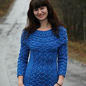 Одежда ручной работы. Ярмарка Мастеров - ручная работа Синяя Птица Удачи теплое Платье. Handmade.