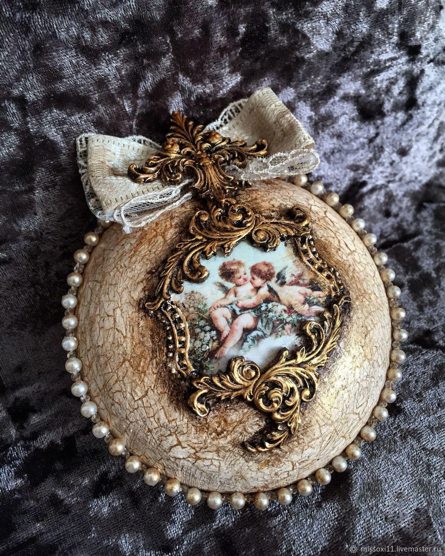 « Медальон Ангелы», Елочные игрушки, Ставрополь,  Фото №1