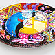 'Sun and Moon' Decorative plate hand painted. Plates. Art by Tanya Shest. My Livemaster. Фото №5