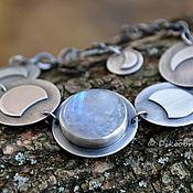 """Украшения ручной работы. Ярмарка Мастеров - ручная работа Браслет """"Полнолуние"""" (серебро 925, лунный камень). Handmade."""