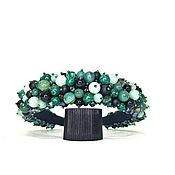 Украшения handmade. Livemaster - original item Rim made of beads and stones (Quartz, Agate, malachite). Handmade.