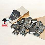 Дизайн и реклама ручной работы. Ярмарка Мастеров - ручная работа Дизайн шоко-этикетки для визиток. Handmade.