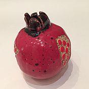 Для дома и интерьера ручной работы. Ярмарка Мастеров - ручная работа Спелый гранат с зёрнами керамический.. Handmade.