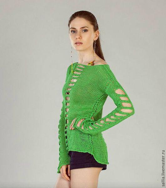 Кофты и свитера ручной работы. Ярмарка Мастеров - ручная работа. Купить Джемпер, свитер или пуловер из хлопка .. Handmade.