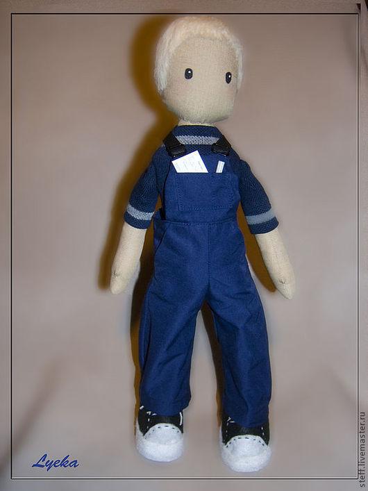 Человечки ручной работы. Ярмарка Мастеров - ручная работа. Купить Мальчик-техник. Handmade. Тёмно-синий, кукла в подарок, фетр