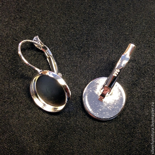 Для украшений ручной работы. Ярмарка Мастеров - ручная работа. Купить Серебро925: Швензы с круглой основой 12 мм, 1 пара. Handmade.