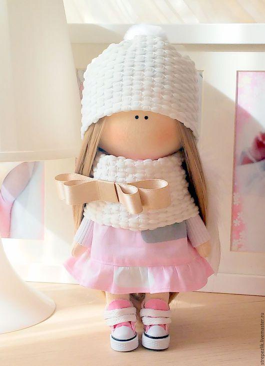"""Коллекционные куклы ручной работы. Ярмарка Мастеров - ручная работа. Купить Кукла """"Ангел"""". Handmade. Бледно-розовый, золотой"""