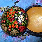 """Для дома и интерьера ручной работы. Ярмарка Мастеров - ручная работа Шкатулка в стиле """"Хохлома"""" ручная работа. Handmade."""