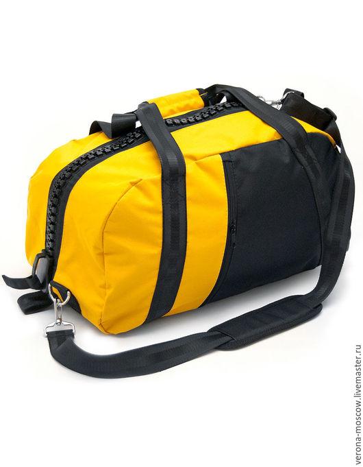 """Спортивные сумки ручной работы. Ярмарка Мастеров - ручная работа. Купить Сумка рюкзак """"Желтая"""". Handmade. Желтый, подарок, полиэстер"""