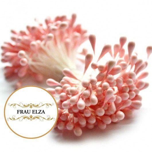 Материалы для флористики ручной работы. Ярмарка Мастеров - ручная работа. Купить Тычинки для цветов 3 мм - розовый персик. Handmade.