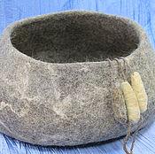 """Для домашних животных, ручной работы. Ярмарка Мастеров - ручная работа Лежаночка из 100% шерсти овечек """"Волчья норка"""". Handmade."""