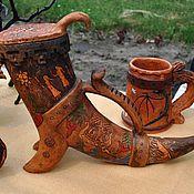 Посуда handmade. Livemaster - original item Horn-jug