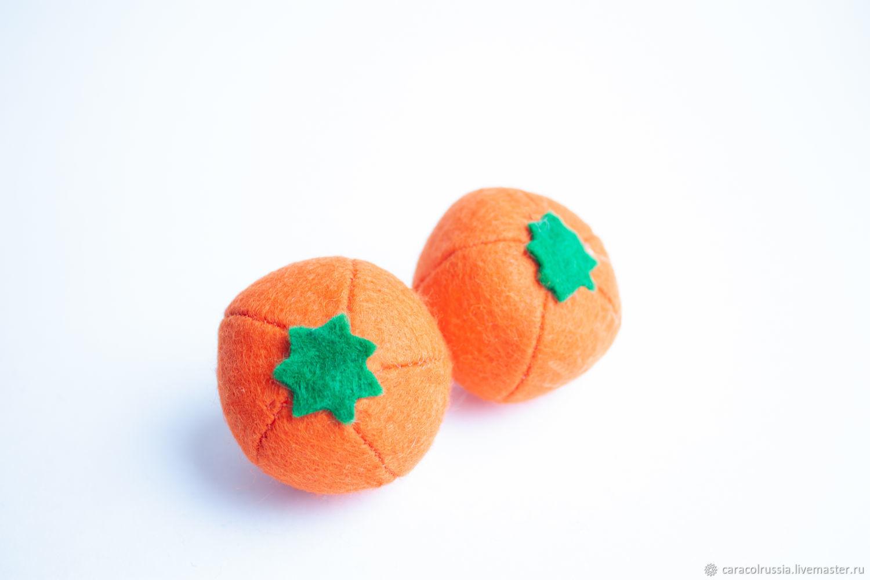 Апельсин из фетра фрукты из фетра, Кукольная еда, Санкт-Петербург,  Фото №1