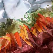 """Аксессуары ручной работы. Ярмарка Мастеров - ручная работа Платок шелк""""Морковкин джаз""""серия """"Овощная симфония"""". Handmade."""