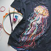 Одежда handmade. Livemaster - original item Medusa T-shirt. Handmade.