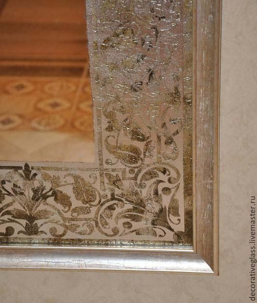 Зеркала ручной работы. Ярмарка Мастеров - ручная работа. Купить Зеркало с орнаментом. Handmade. Серебряный, зеркало, интерьерное украшение, орнамент