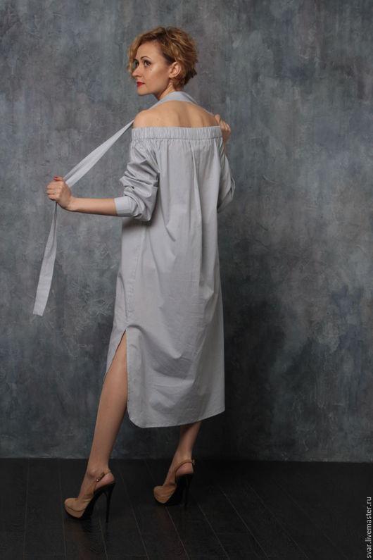 Платья ручной работы. Ярмарка Мастеров - ручная работа. Купить Платье-рубашка. Handmade. Черный, рубашка, легкое