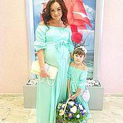 Одежда ручной работы. Ярмарка Мастеров - ручная работа Платье Мама + дочка. Handmade.