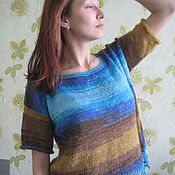 Одежда ручной работы. Ярмарка Мастеров - ручная работа свитер летний с коротким рукавом. Handmade.