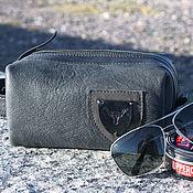handmade. Livemaster - original item Men`s dressing case made of genuine leather