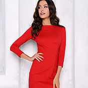 Одежда handmade. Livemaster - original item Sheath dress bright red. Handmade.