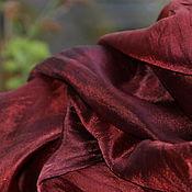 Аксессуары ручной работы. Ярмарка Мастеров - ручная работа Шелковый палантин Бургундия  шелковый шарф. Handmade.