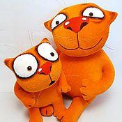 Куклы и игрушки handmade. Livemaster - original item There are no monsters! Soft toys red cats Vasya Lozhkina. Handmade.