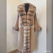 Одежда ручной работы. Ярмарка Мастеров - ручная работа Кашемировое пальто с куницей.(резерв). Handmade.