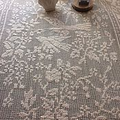 Винтаж handmade. Livemaster - original item Lace tablecloth with fringe, crochet, vintage. Handmade.