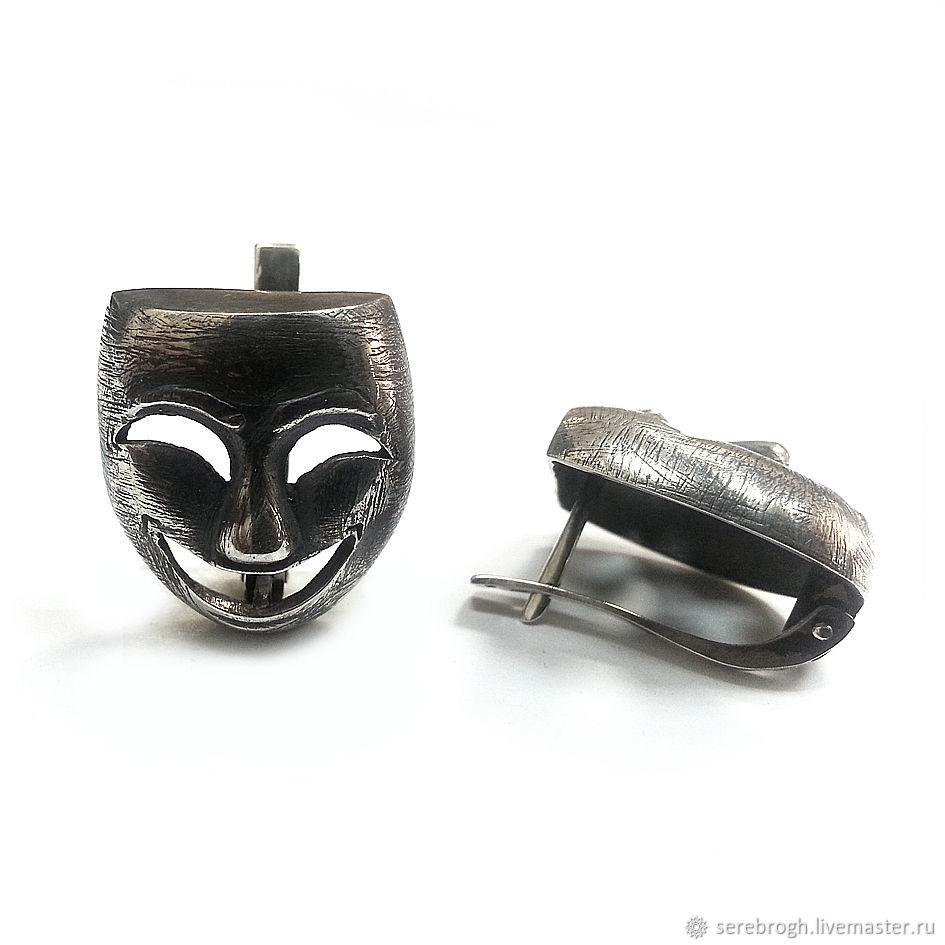 Earrings silver Venetian Mask, Earrings, Moscow,  Фото №1