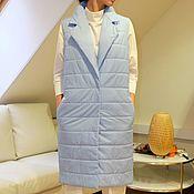 Одежда ручной работы. Ярмарка Мастеров - ручная работа Жилет женский утепленный Blue. Handmade.