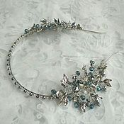 Свадебный салон handmade. Livemaster - original item bezel. tiara. Silver twigs.. Handmade.