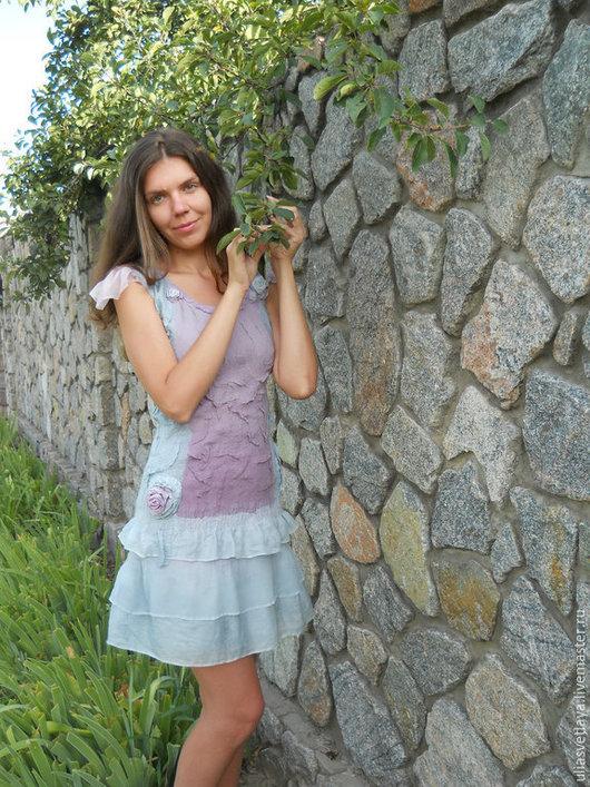 """Платья ручной работы. Ярмарка Мастеров - ручная работа. Купить Платье """"Рассвет"""" нунофелтинг. Handmade. Платье нуновойлочное, Платье нарядное"""