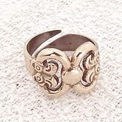 Фен-шуй и эзотерика handmade. Livemaster - original item Ring women`s charm double-Headed Gryphon of metal. Handmade.