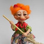 Куклы и игрушки handmade. Livemaster - original item Grandma ezhka. Mistress.. Handmade.