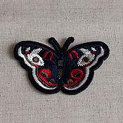 Материалы для творчества ручной работы. Ярмарка Мастеров - ручная работа Аппликация клеевая , вышивка бабочка. Handmade.