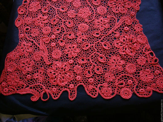 Кофты и свитера ручной работы. Ярмарка Мастеров - ручная работа. Купить Туника  цвета коралла. Handmade. Коралловый, туника крючком