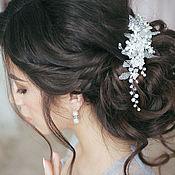 Свадебный салон ручной работы. Ярмарка Мастеров - ручная работа Гребень свадебный жемчужный. Украшение свадебное для прически невесты. Handmade.