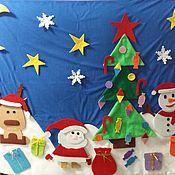 Куклы и игрушки ручной работы. Ярмарка Мастеров - ручная работа Новогодний пазл-липучка. Handmade.