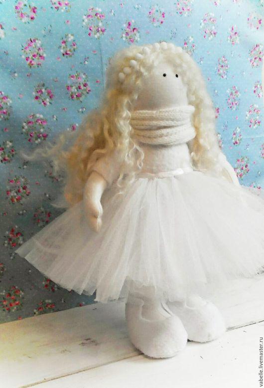 Куклы тыквоголовки ручной работы. Ярмарка Мастеров - ручная работа. Купить Интнрьерная кукла. Handmade. Белый, ангел снов, бисер