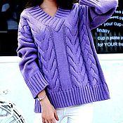Одежда handmade. Livemaster - original item Women`s purple sweater. Handmade.