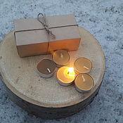 Свечи ручной работы. Ярмарка Мастеров - ручная работа Свечи чайные с медовым ароматом из натурального пчелиного воска. Handmade.
