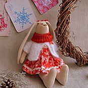 Куклы и игрушки ручной работы. Ярмарка Мастеров - ручная работа Текстильный заяц. Тильда. Вся одежда снимается.. Handmade.