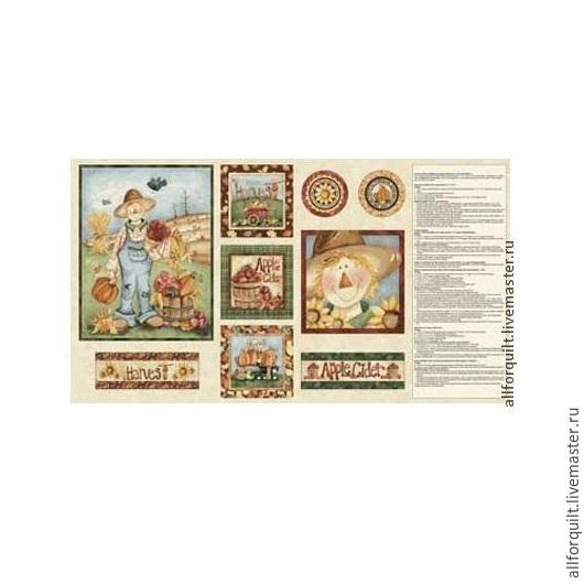 Шитье ручной работы. Ярмарка Мастеров - ручная работа. Купить панель Счастливый урожай, США. Handmade. Коричневый, хлопковая ткань