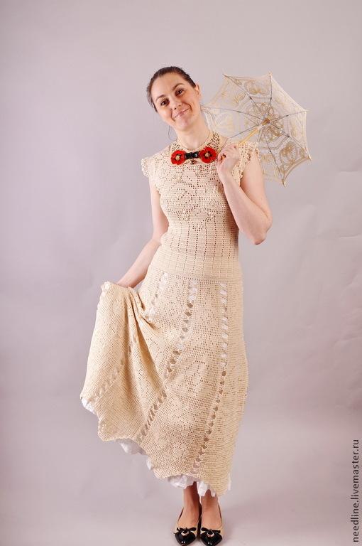 """Платья ручной работы. Ярмарка Мастеров - ручная работа. Купить платье """"в стиле  Прованс"""". Handmade. Бежевый"""