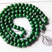 Фен-шуй и эзотерика handmade. Livemaster - original item Malay jade beads with silver. Handmade.